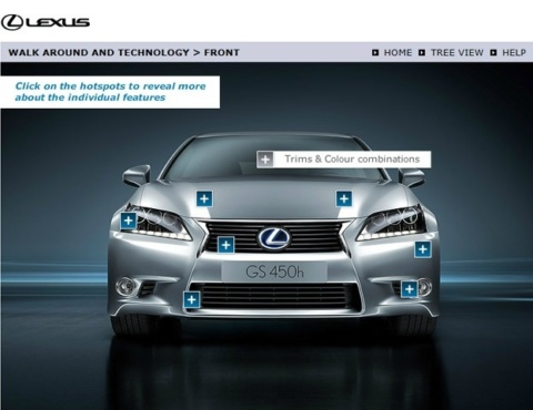 Lexus Product Knowledge Screen