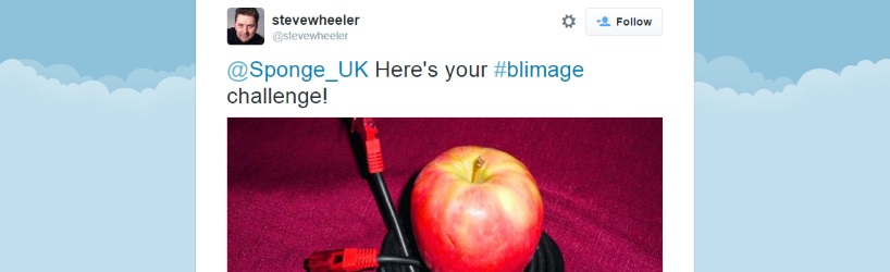 a tweeted image of an apple and a cat 5 cable