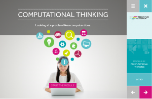 Computational Thinking elearning module