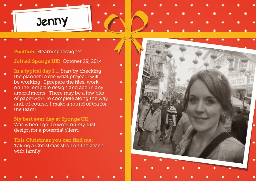 Sponge Elearning Designer Jenny gives us an insight into her daily work life