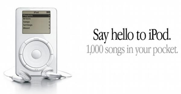 An advert for the original Apple iPod