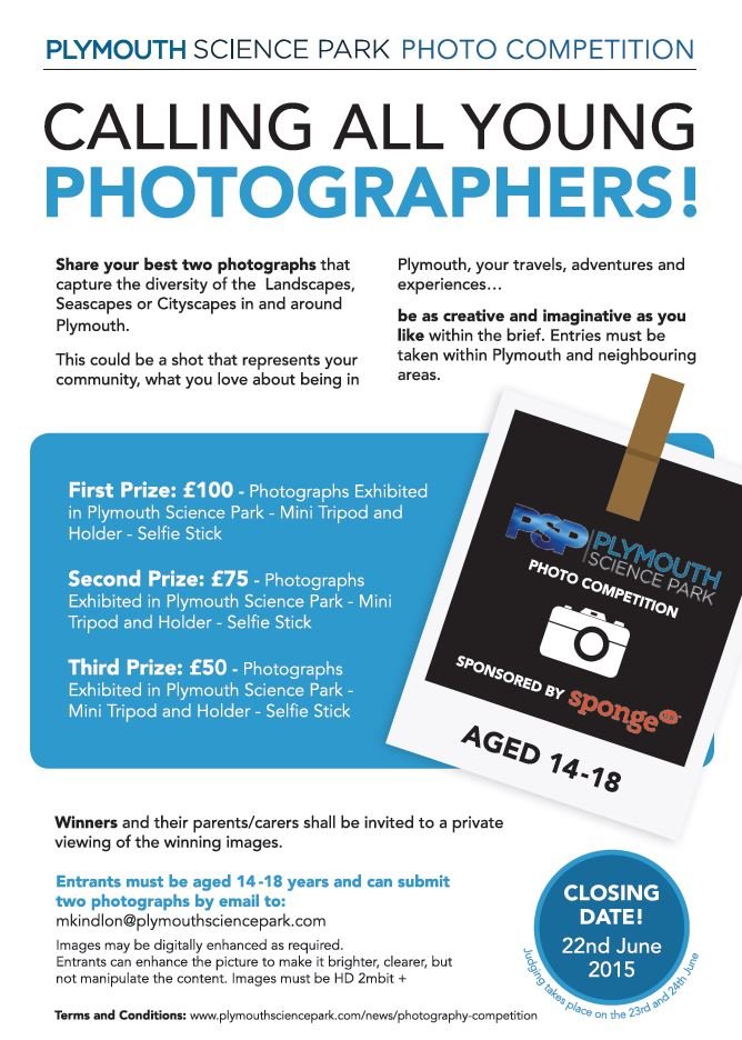 Plymouth Science Park Photography Competition for young photographers