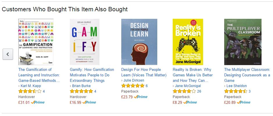Amazons recommendations offer a good model for recommending courses to your learners