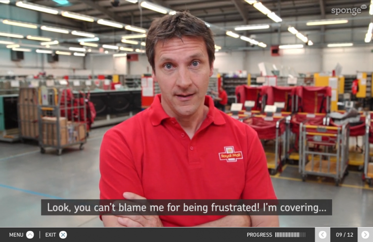 The Royal Mail used interactive video to train managers in difficult conversations