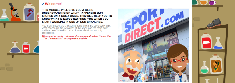 Sports Direct induction