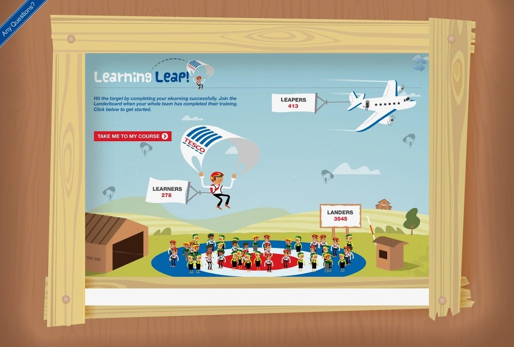 Tesco used an elearning course as part of their learning leap programme