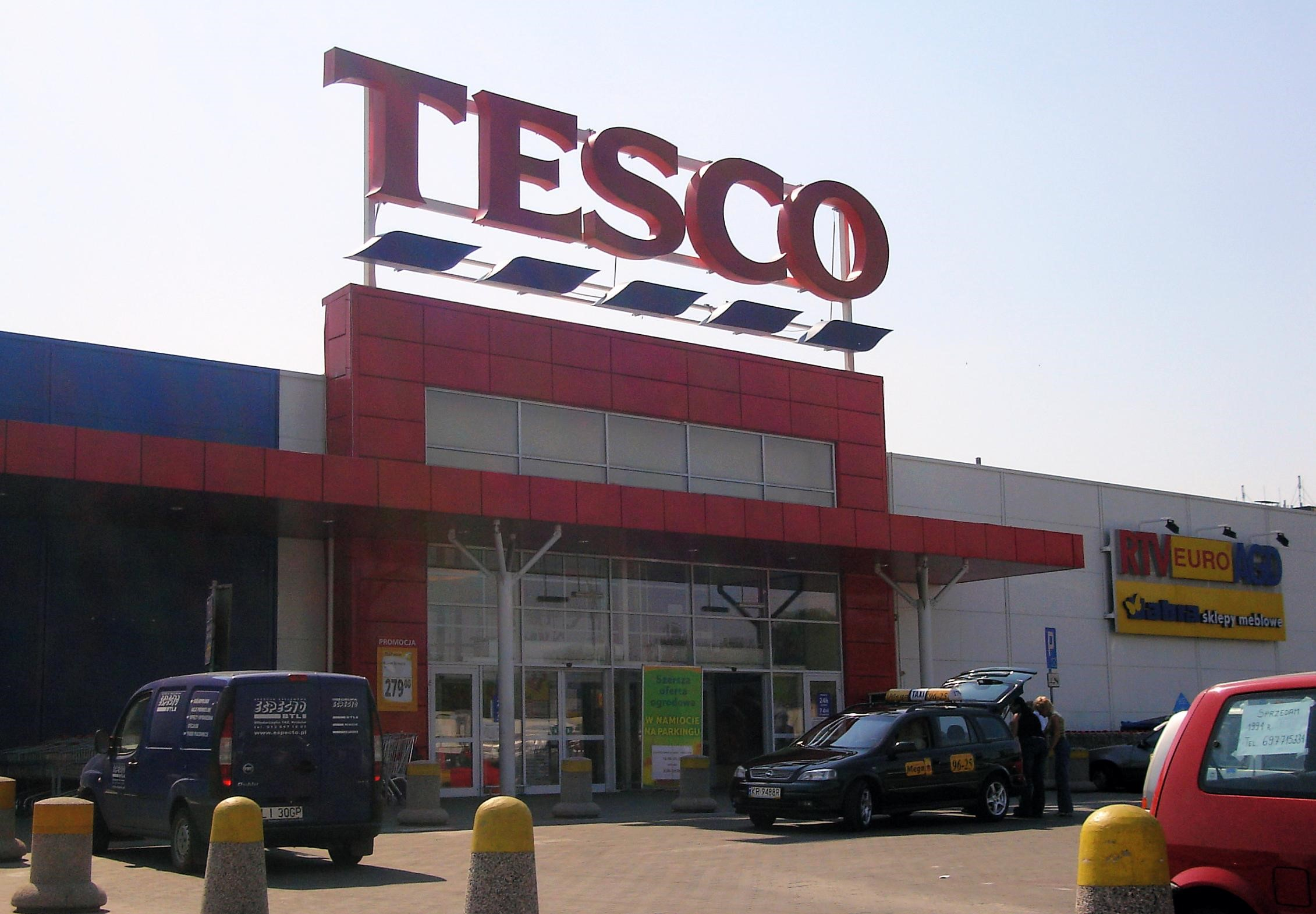 This Tesco store is in Poland but it could be in any of the 11 countries that they operate in