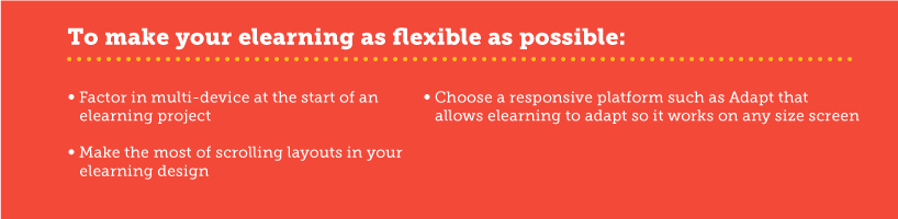 Tips on flexibility