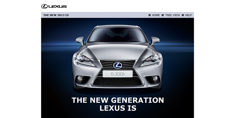 Lexus elearning screenshot